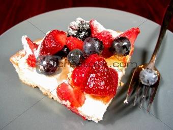 Slice of berry cake