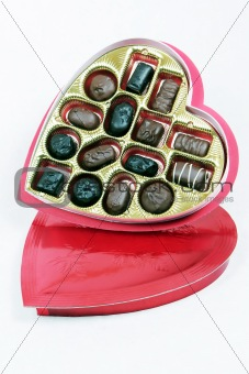 Tilted Heart Shaped Box of Assorted Chocolates