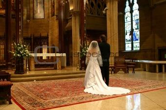 Bride and Groom at Altar (landscape)