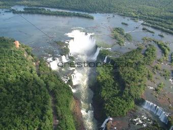 Aerial view of Iguazu falls, Argentina