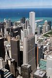 Chicago downtown – aerial view