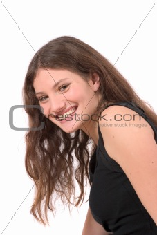 Beautiful teenager smiling
