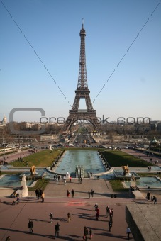 Eiffel tower and palais de chaillot