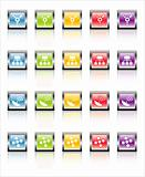 MetaGlass Icons Network (Vector)