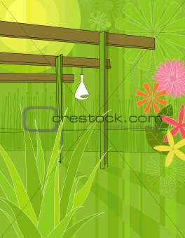 Modern Garden Arbor (Vector)