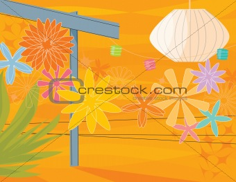 Retro Garden Party (vector)