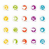 Colorful Simple Web Icon Set 2(Vector)