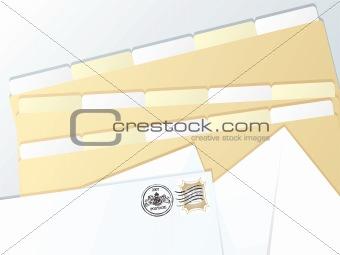 business folder blank
