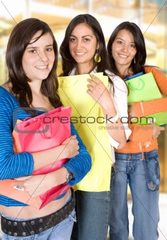 girls shopping out