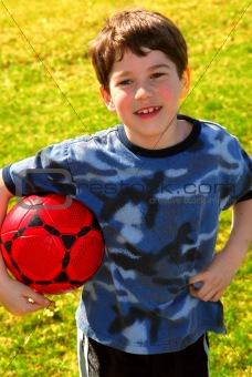 Boy with soccer ball