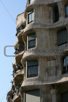 Casa Mila  Antoni Gaudi Barcelona