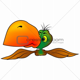 Green-brown Parrot