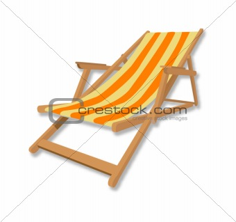 beach chair illsutration