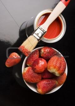 Paint & Strawberies
