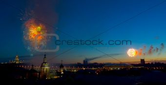 Fireworks in Moscow