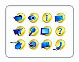 Icon Set - Golden-Blue