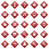 Red diamond icons