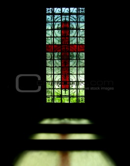 cross on the window