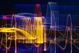 Cardiogram of night city