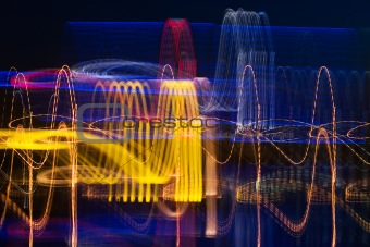 Cardiogram of night city