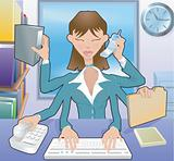 Multitasking Business woman