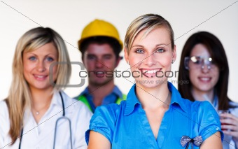 Portrait of several employees
