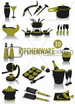 Kitchenware silhouettes 2