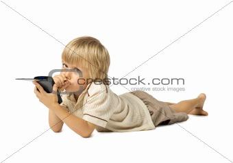 Boy with PDA