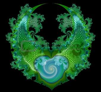 Green Blue Backgound Texture Illustration