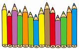 Various colors pencils