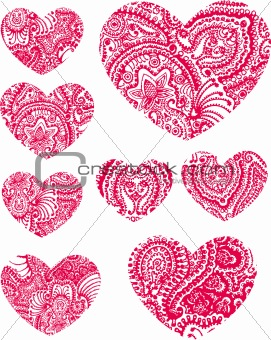 Paisley Heart Element