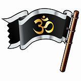 Hindu Om on Flag