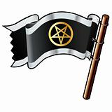 Pentagram Religious Icon on Flag