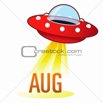 August Month Under Flying Saucer