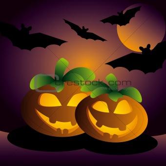 shiny halloween pumpkin