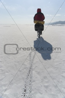 Biker on ice