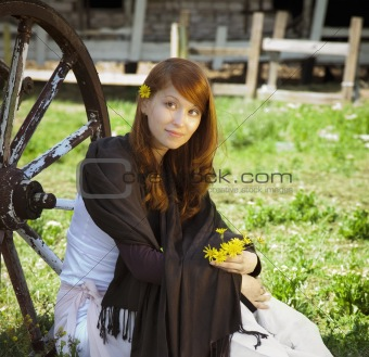country stile model portrait