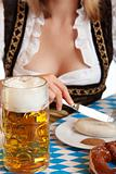 Close-up of a typical meal at the Oktoberfest