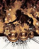 Burning DJ Wall Poster