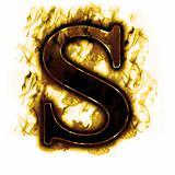 Flames Burning Letter