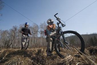 Bikers in swampland