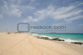 Beach near Corralejo, Canary Island Fuerteventura, Spain