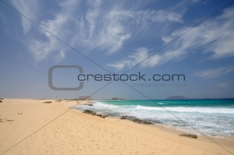 Beach near Corralejo, Canary Island Fuerteventura, Spain
