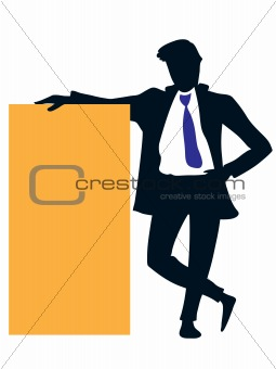 Businessman advertising