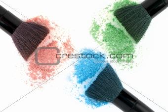 Three color powder