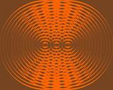 Few orange circles turning on brown background