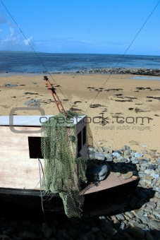 old derelict boat