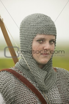 bows woman / medieval armor