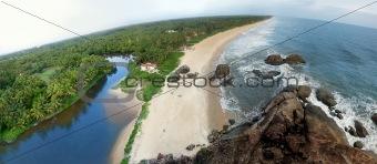 Beautiful panorama of a beach