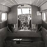 Old airplane cabin